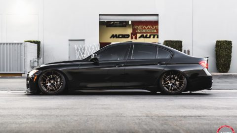 Black BMW 335i - Forgestar F14 Wheels in Bronze Burst